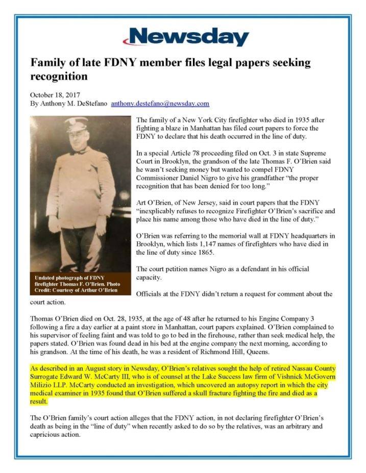 VMM IN THE NEWS | New York Trust and Estate Lawyer