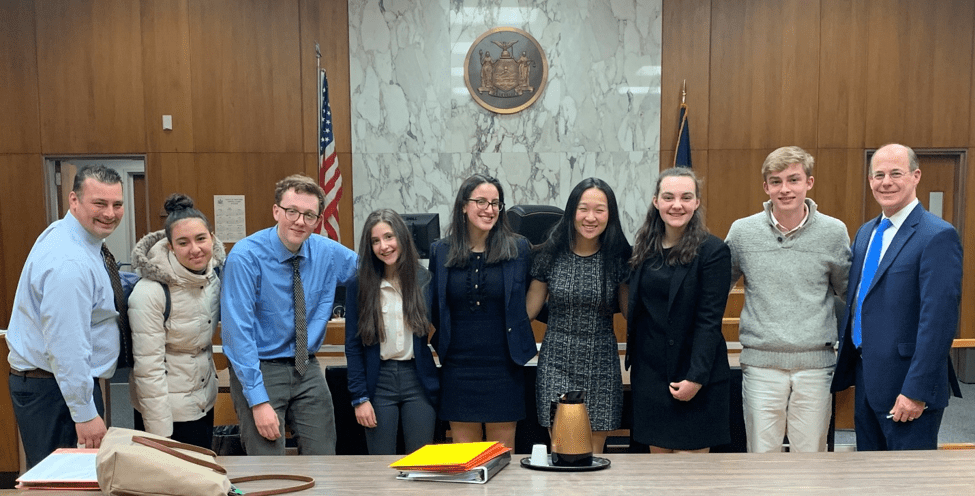 Locust Valley High School Team in the New York State High School Mock Trial Tournament